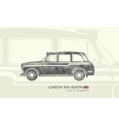 printing London taxi Austin vector image