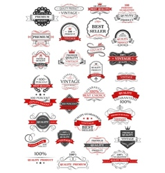 Retro set of bestseller guarantee and quality vector image vector image