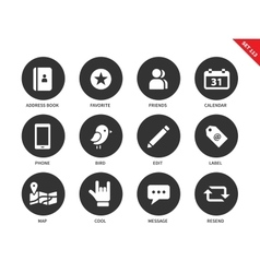 Social icons on white background vector image