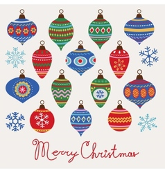 Baubles Christmas card vector image vector image