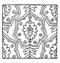 carpet pattern is a 17th century design found in vector image
