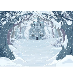 Magic Winter Castle vector image vector image