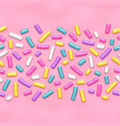 seamless background of pink candy donut glaze with vector image vector image