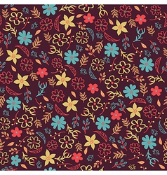 seamless floral pattern Can be used for invitation vector image vector image