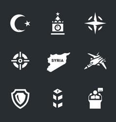set of plane crash icons vector image vector image