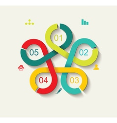 Time Line Design Can be used for workflow layout vector image vector image
