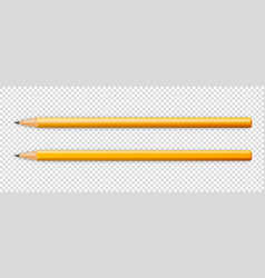 3d realistic sharpened yellow wooden pencil vector image