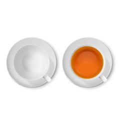 3d realistic white porclean ceramic empty vector image