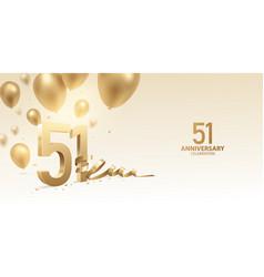 51st anniversary celebration background vector