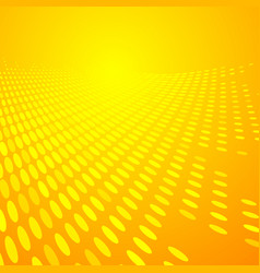 Abstract dots pattern halftone yellow and orange vector