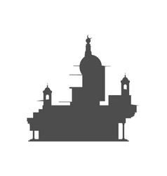 Abstract temple silhouette vector
