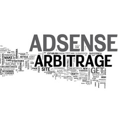 Adsense arbitrage guidelines to profits text word vector