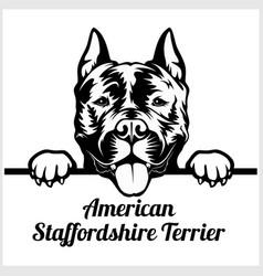 American staffordshire terrier - peeking dogs vector