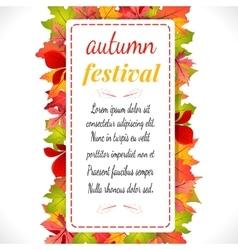 Autumn festival on white vector