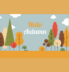 autumn landscape trees are the seasonssuper sale vector image