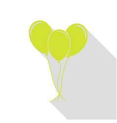balloons set sign pear icon with flat style vector image