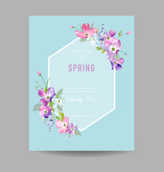 blooming spring and summer floral frame vector image