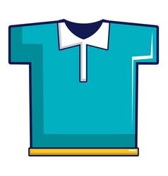 Blue polo shirt icon cartoon style vector