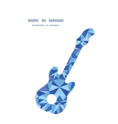 blue triangle texture guitar music silhouette vector image