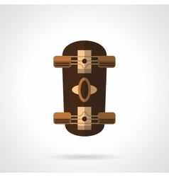 Brown longboard flat color icon vector image