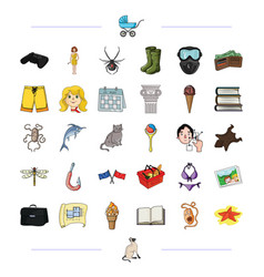 business fishing hiking and other web icon in vector image