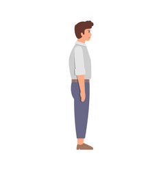 businessman character side view vector image