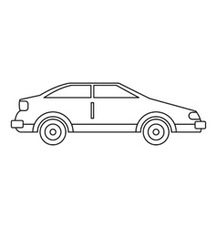 Car icon outline style vector image