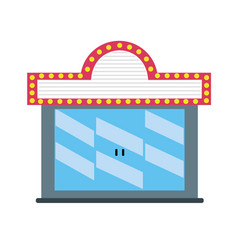 Cinema theater to watch movie projection vector