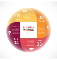 circle infographic square diagram cycle vector image