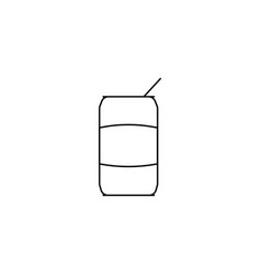 Coke line icon vector