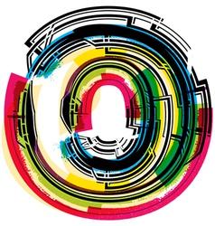 Colorful Grunge font LETTER o vector image