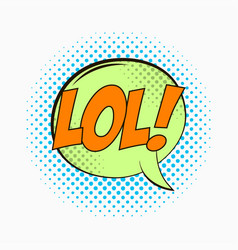 comic speech bubble with emotions - lol vector image