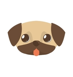 cute doggy brown tongue out vector image