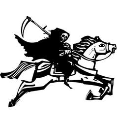 Death on a white horse vector