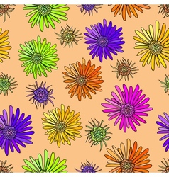 Decoration element Floral style Seamless vector image vector image