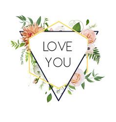 design floral flower card natural botanical vector image
