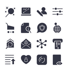 different icons for apps sites programs vector image