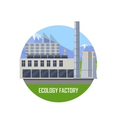 Ecology Factory Icon vector image