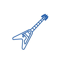 electric guitar line icon concept electric guitar vector image
