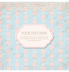 Elegance pattern with flowers in vintage style vector image