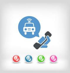 emergency phone call vector image