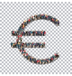 euro currency people 3d vector image