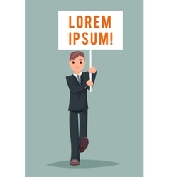 Event Demonstration Poster Stand Businessman vector