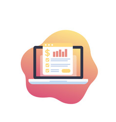 Financial planning data analysis icon vector