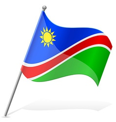 Flag of namibia vector