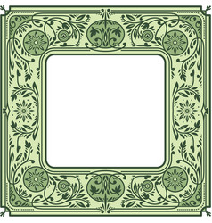 Floral square framewhite space in the centre vector