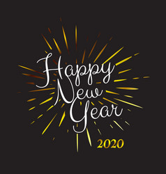 gold colored happy new year 2020 background vector image