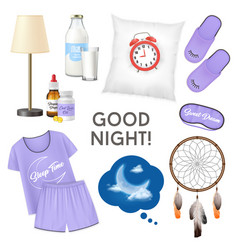 good night realistic design concept vector image