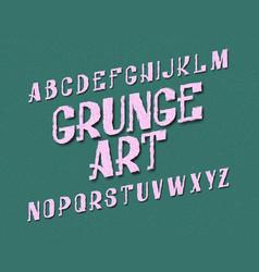 grunge art typeface urban font isolated english vector image