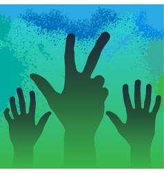 Hands in smoke vector image